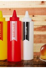Fox Run Condiment Bottles, Ketchup, Mustard, Mayo