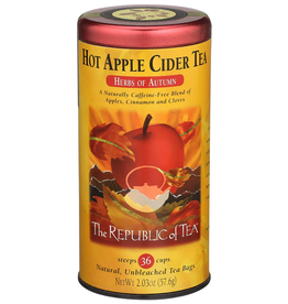 The Republic of Tea Hot Apple Cider Herbal Tea, 36 Bag Tin