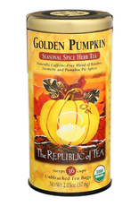 The Republic of Tea Golden Pumpkin Herbal Tea, 36 Bag Tin