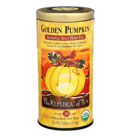 The Republic of Tea Golden Pumpkin Herbal Tea, 36 Bag Tin