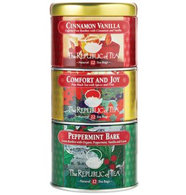 The Republic of Tea Holiday Stackable tins, 36 Bag Tin