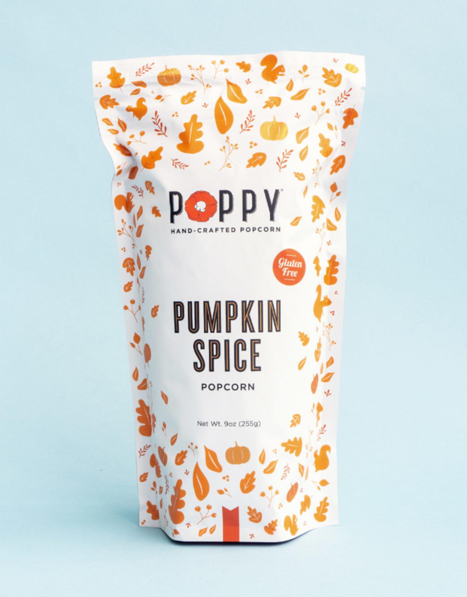 Poppy Pumpkin Spice Popcorn