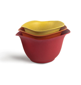 Architec Purelast Mixing Bowl Set, red to yellow