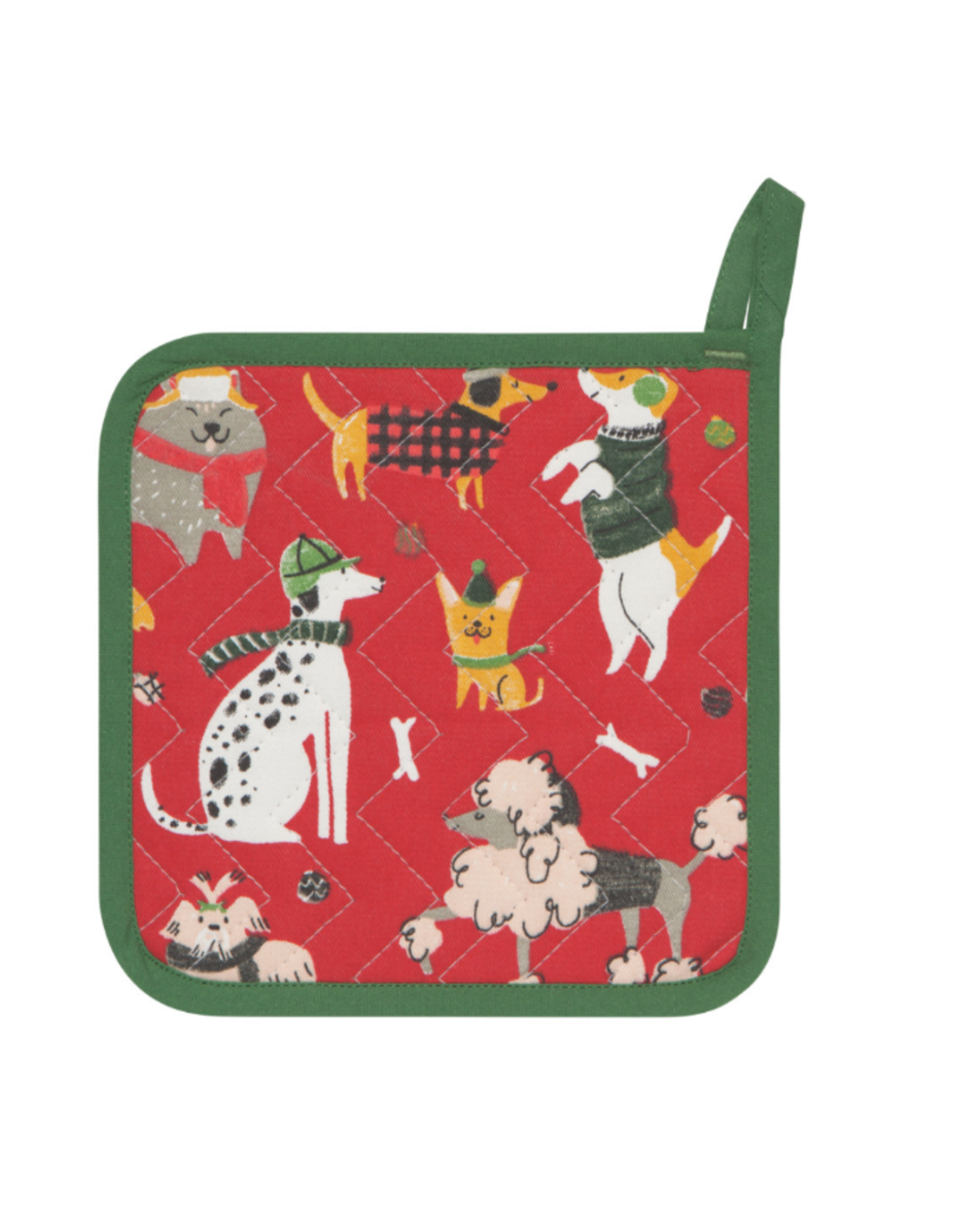 Now Designs F20 Potholder, Yule Dogs