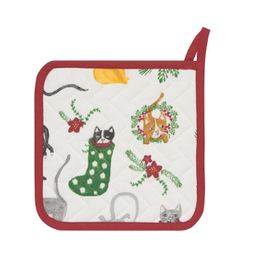 Now Designs F20 Potholder, Meowy Christmas