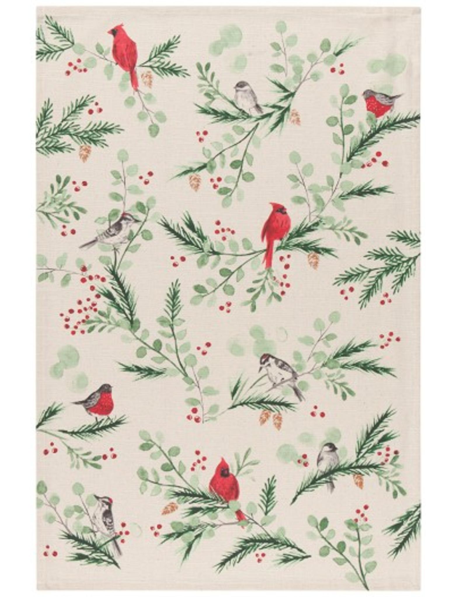Now Designs F20 Dishtowel, Forest Birds