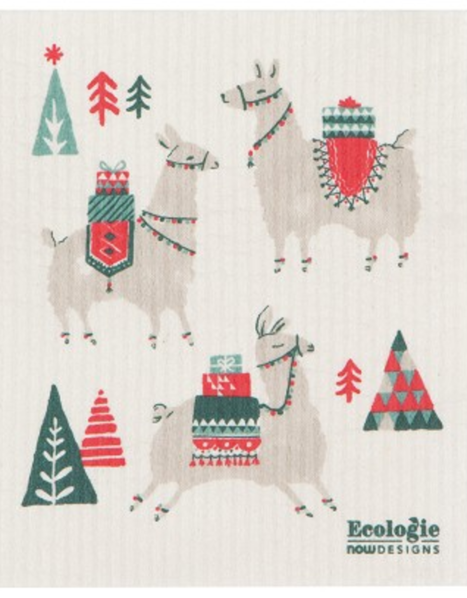Now Designs Swedish Dishcloth, Happy Llamadays
