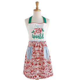 Design Imports Joy to the World Printed Apron