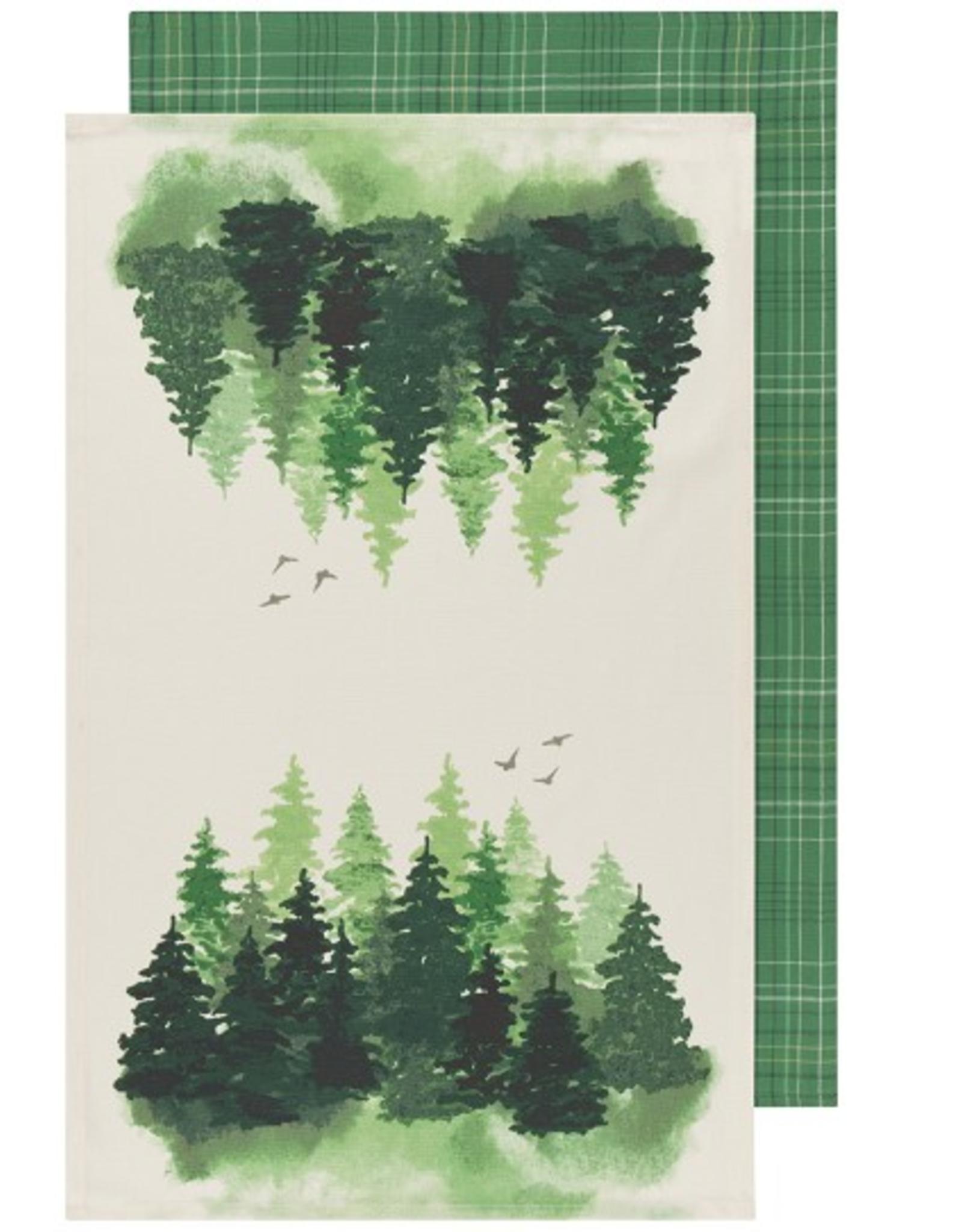 Now Designs Dishtowel S/2, Woods Plaid
