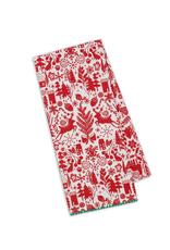 Design Imports Christmas Woods Print Dishtowel