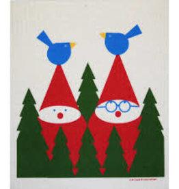 Cose Nuove Swedish Dishcloth, Tomte & Birds, Winter