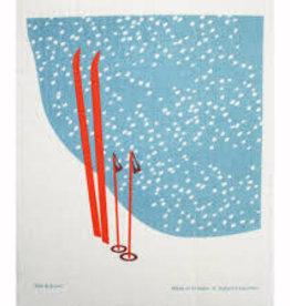 Cose Nuove Swedish Dishcloth, Winter Skis