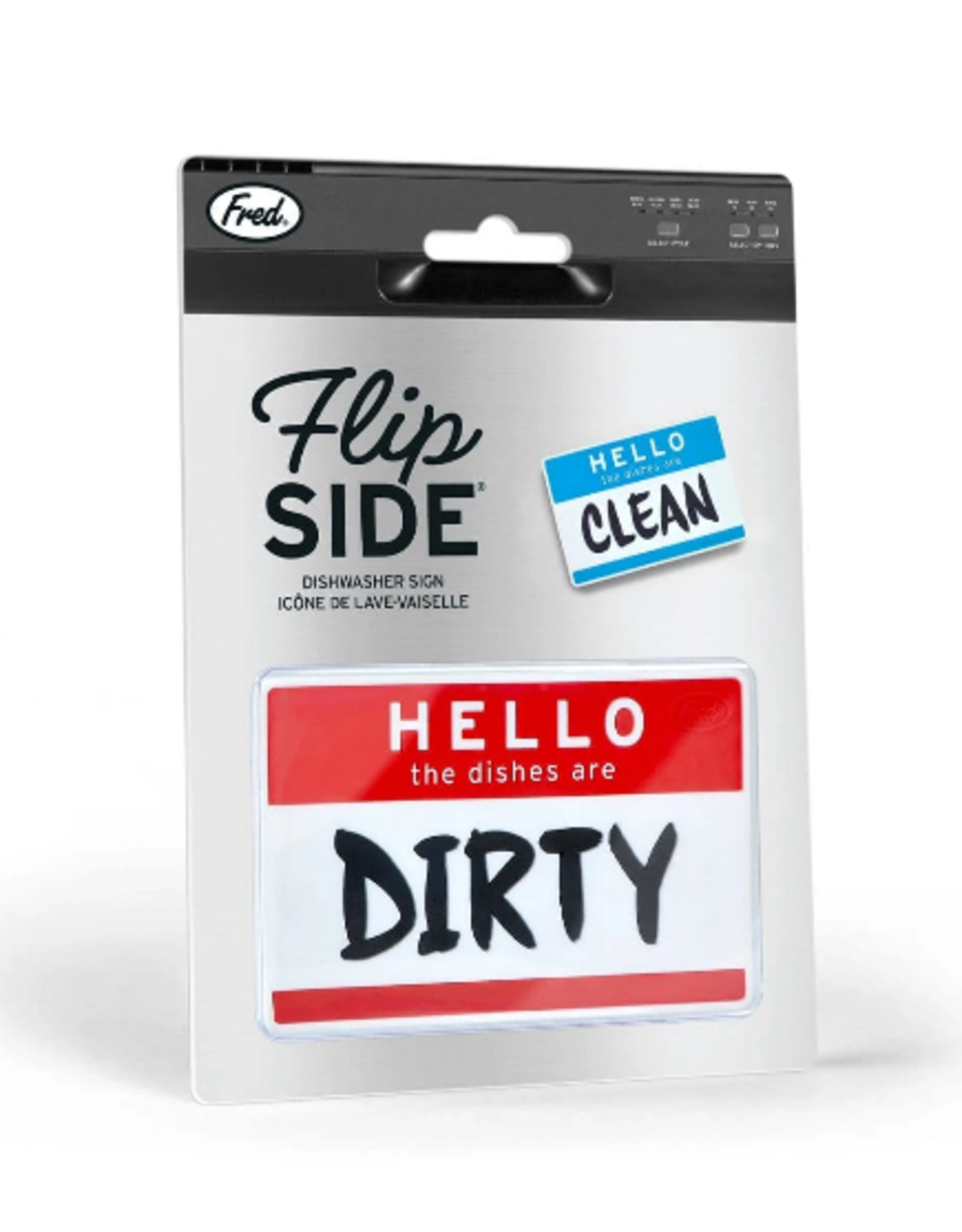 Fred & Friends FLIP Dirty/Clean Magnet, HELLO