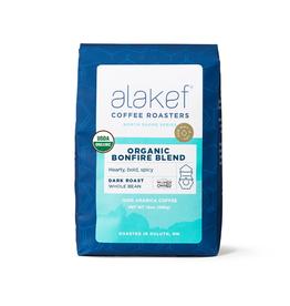 Alakef Coffee Organic Bonfire Blend, Whole Bean 12oz