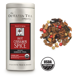 Octavia Tea Company Hot Cinnamon Spice Tea Tin, Loose Leaf