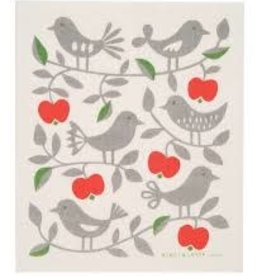 Cose Nuove Swedish Dishcloth, Apples Birds