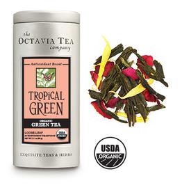Octavia Tea Company Tropical Green Tea Tin, Loose Leaf