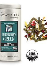 Octavia Tea Company Blueberry Green Tea Tin, Loose Leaf