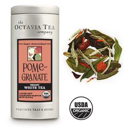 Octavia Tea Company Pomegranate White Tea Tin, Loose Leaf