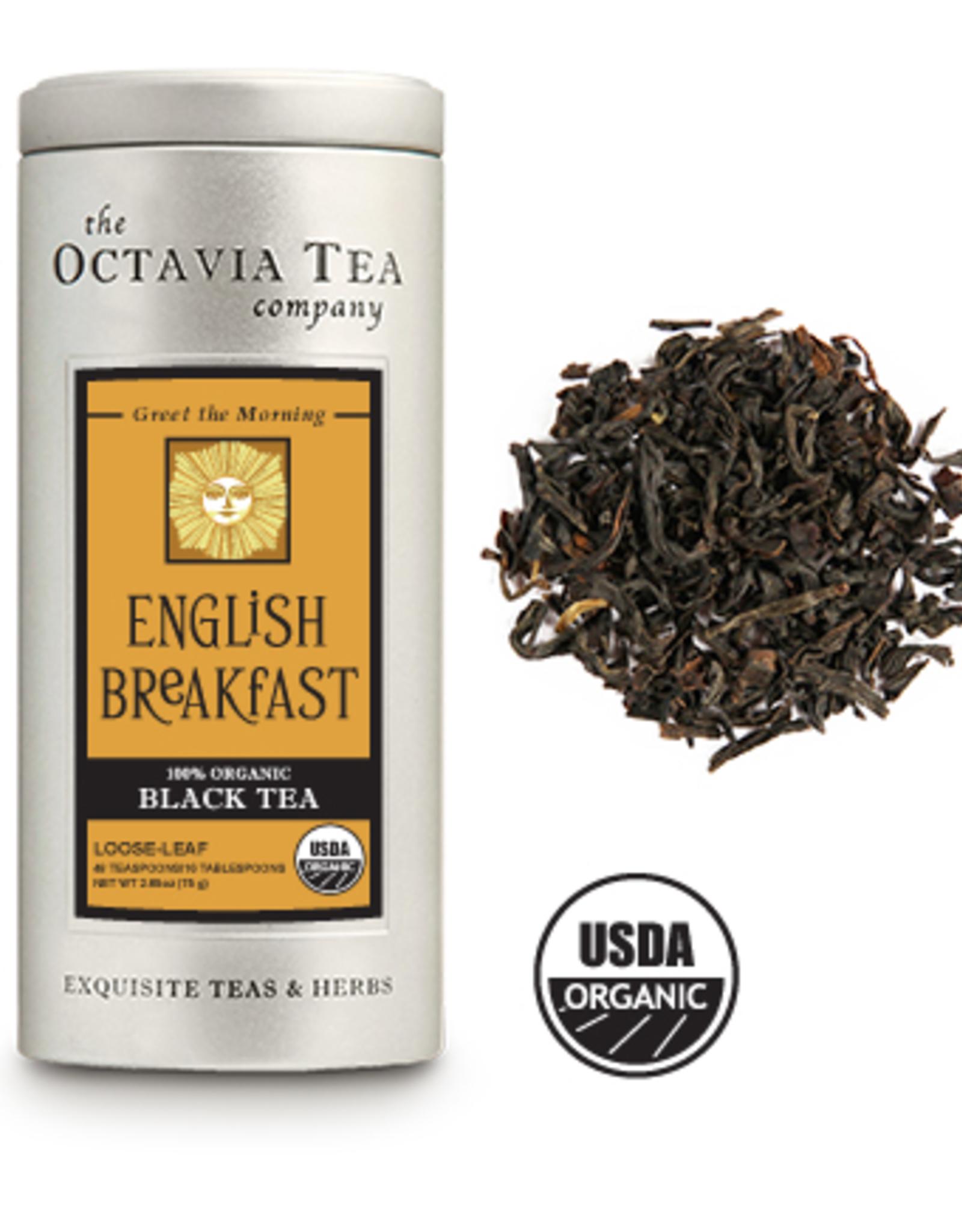Octavia Tea Company English Breakfast Tea Tin, Loose Leaf