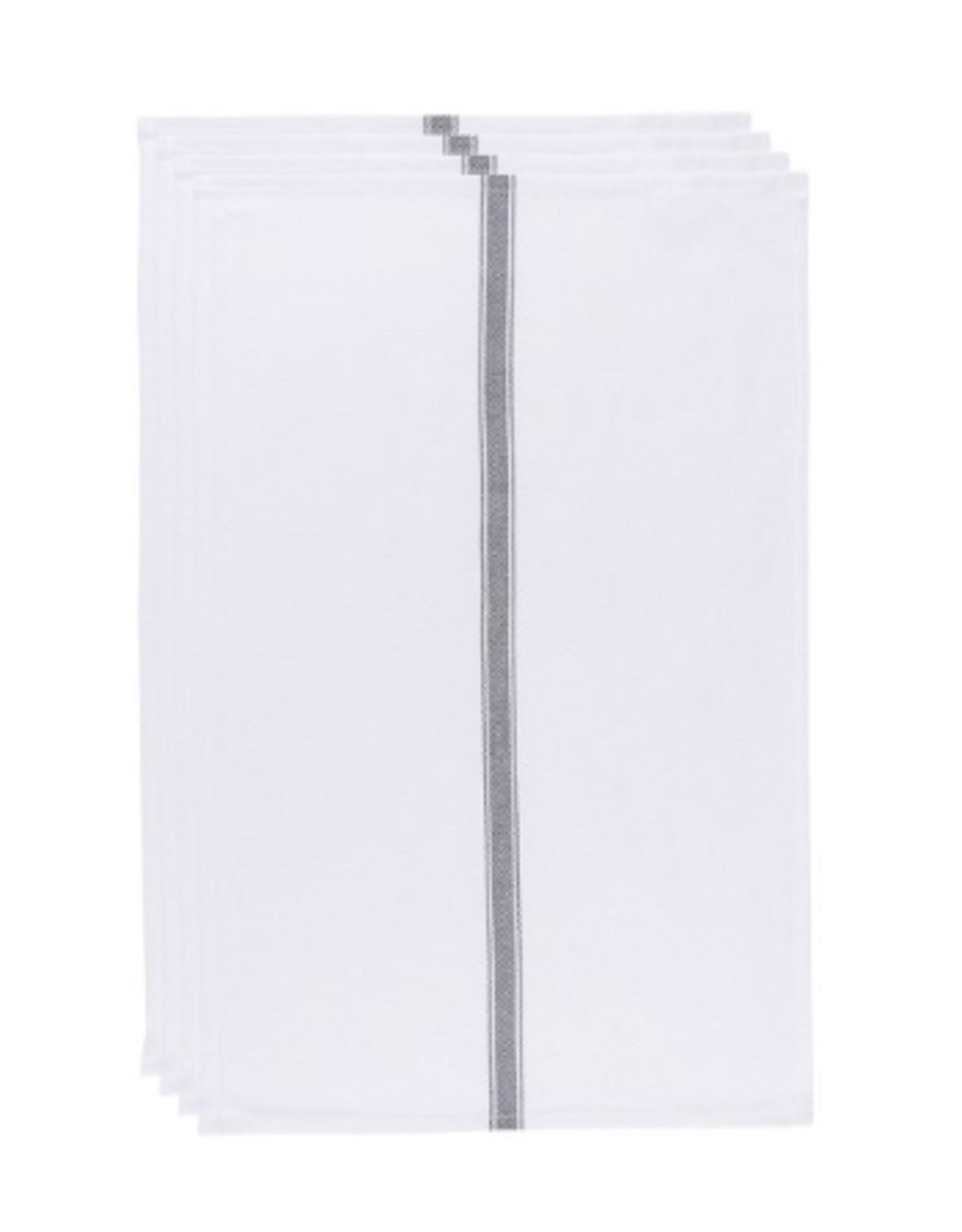 Now Designs Brooklyn Stripe Dishtowels Set/4, Black