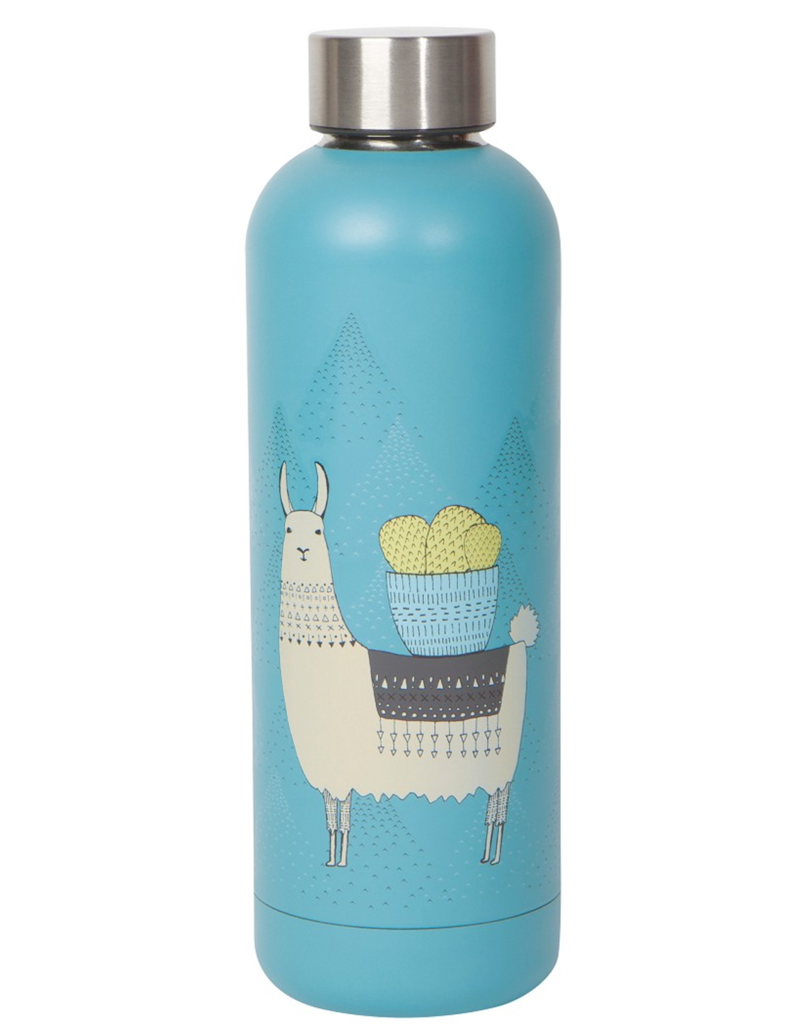 Now Designs Danica Water Bottle, 17oz, Llamarama