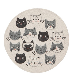 Now Designs Trivet, Braided, Cats Meow
