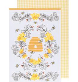 Now Designs Dishtowel Set/2, Bees