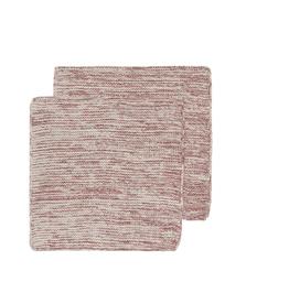 Now Designs Knit Dishcloth S/2, Wine