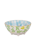 BIA Cordon Bleu Grace Footed Bowl, Turq/Green