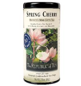 The Republic of Tea Spring Cherry Green Tea 50 Bag Tin