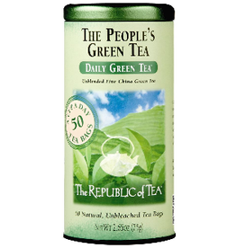 The Republic of Tea The People's Green Tea, 50 Bag Tin