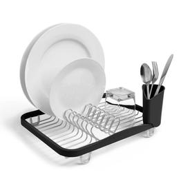 Umbra In-Sink Dish Rack, Smoke/Nickel