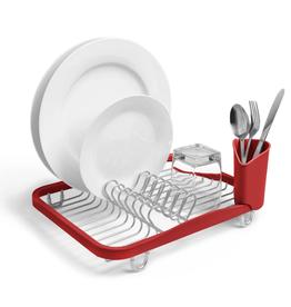 Umbra In-Sink Dish Rack, Red