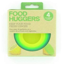 Lifetime Brands Food Huggers, Set 4, Green/Yellow