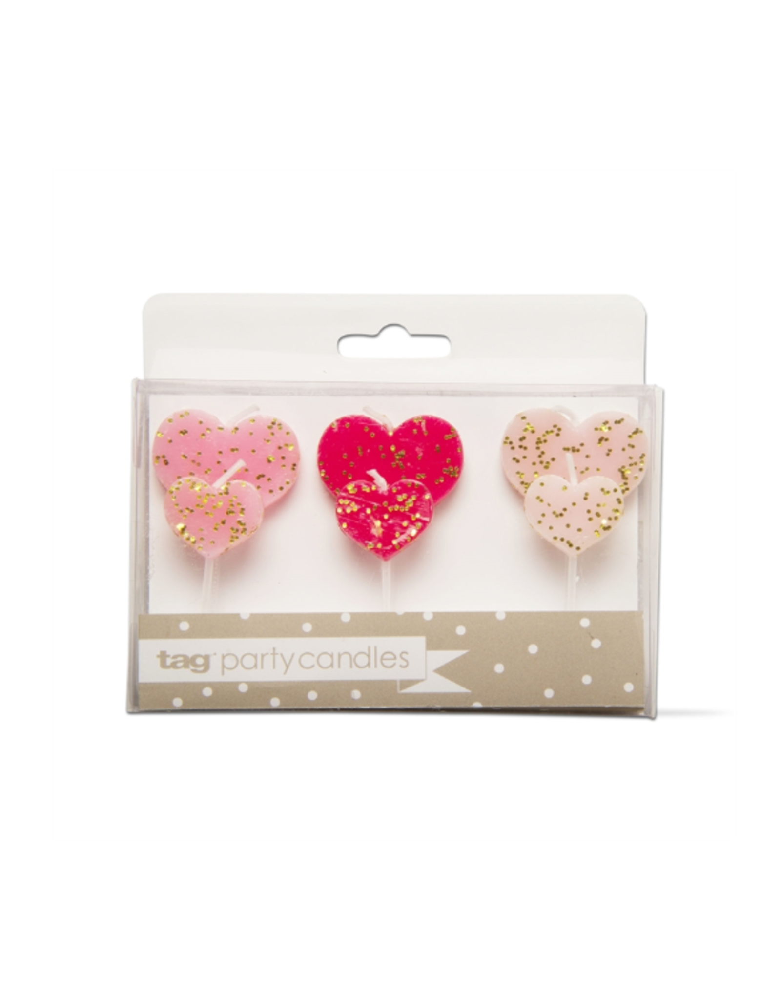 Tag Party Candles S/6, Hearts