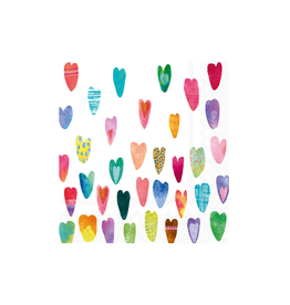 Boston International Cocktail Napkin, Rainbow Hearts