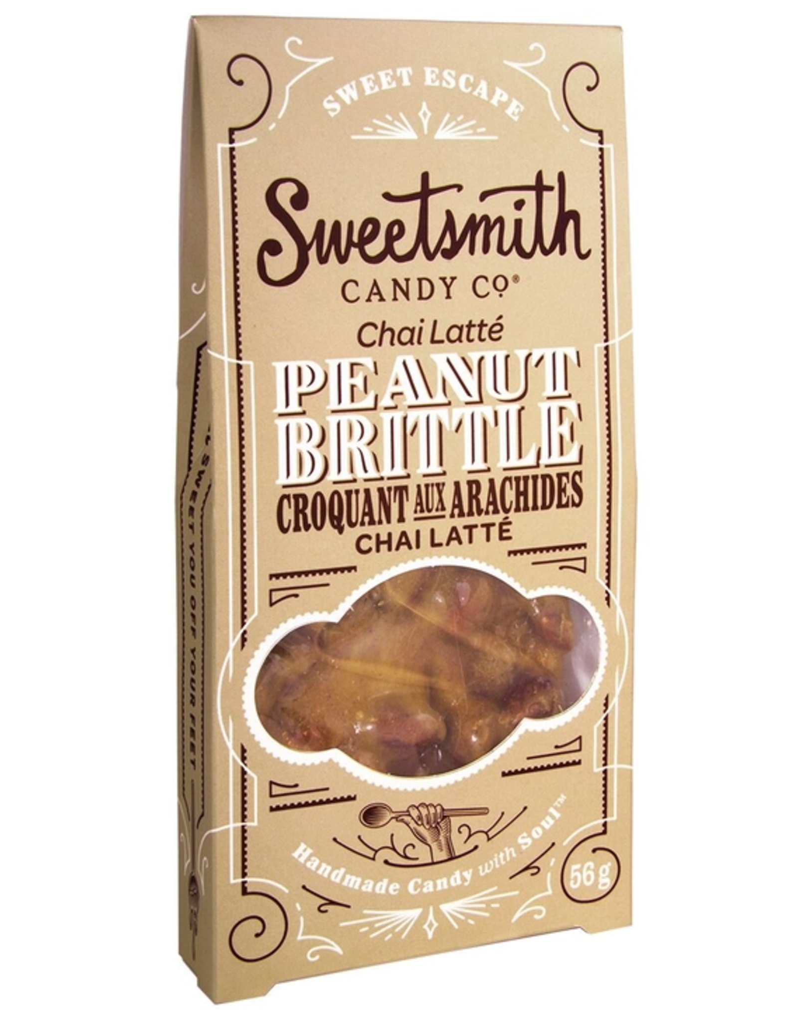 Sweetsmith Candy Co Chai Latte Peanut Brittle