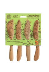 Talisman Design Beechwood Spreaders, Woodland, Set4