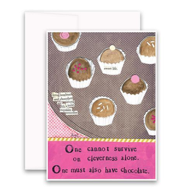 Curly Girl Design Card, Chocolate