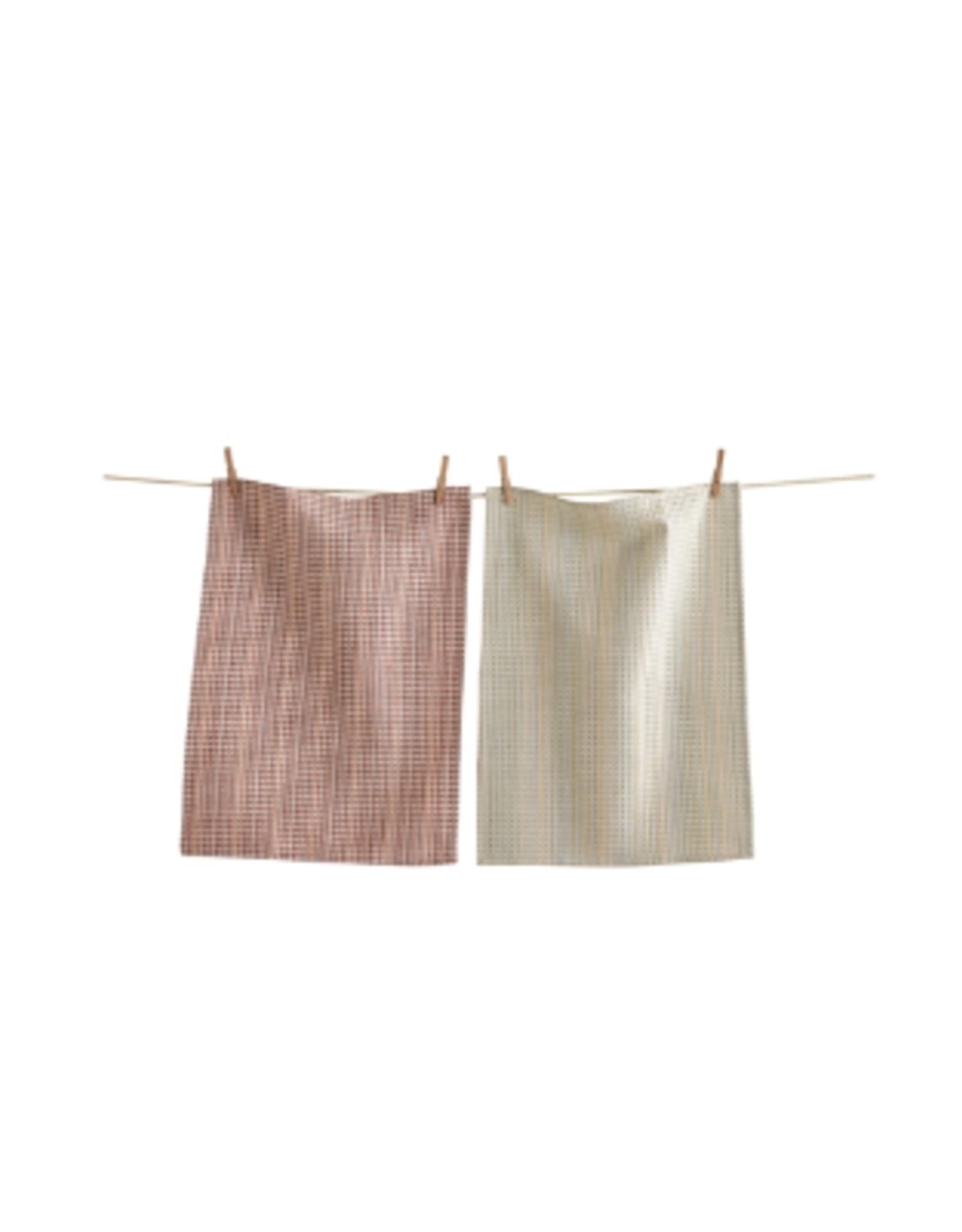Tag Dishtowel S/2 - Chambray Stripe