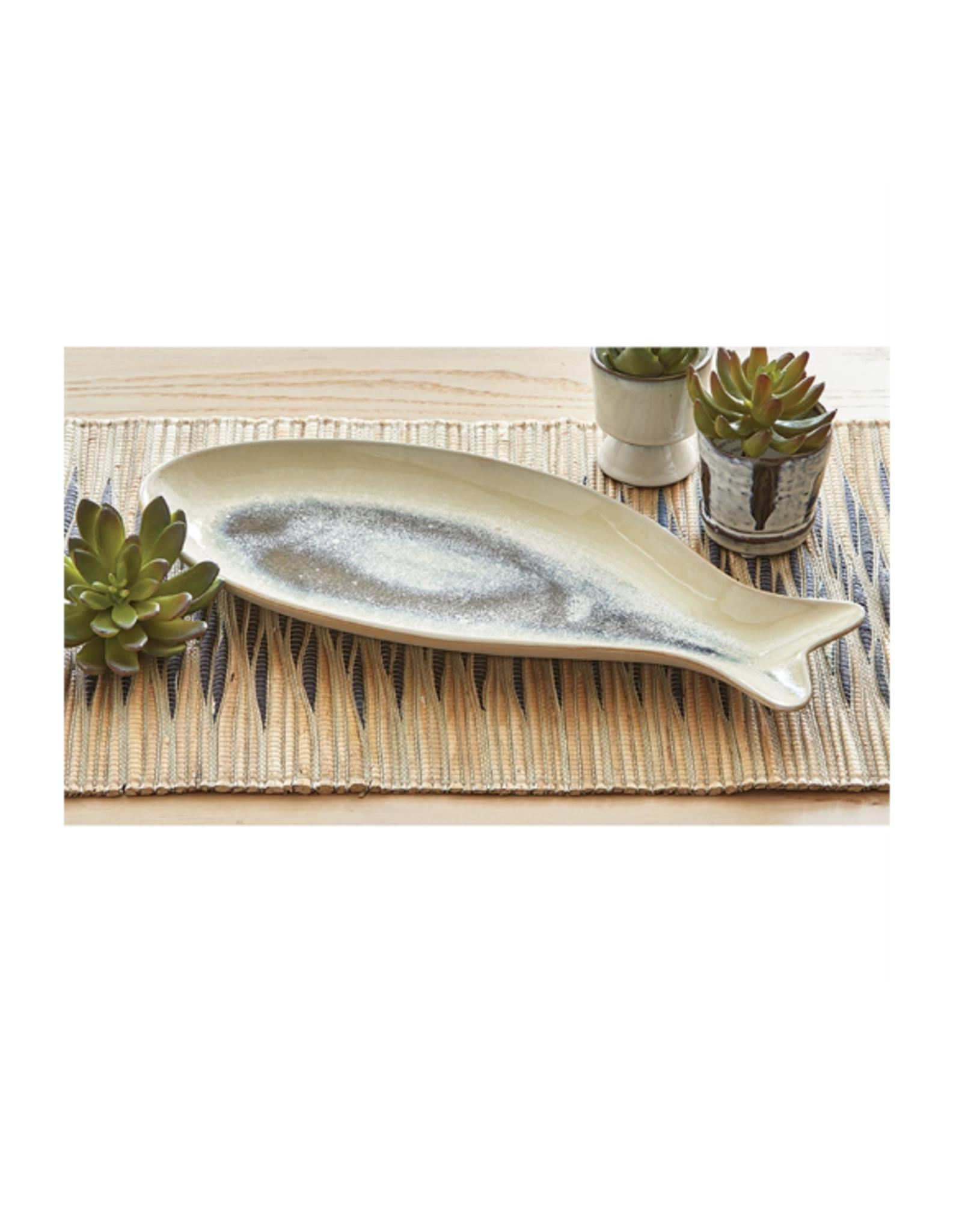 Tag Fish Platter Lg - Blue Multi