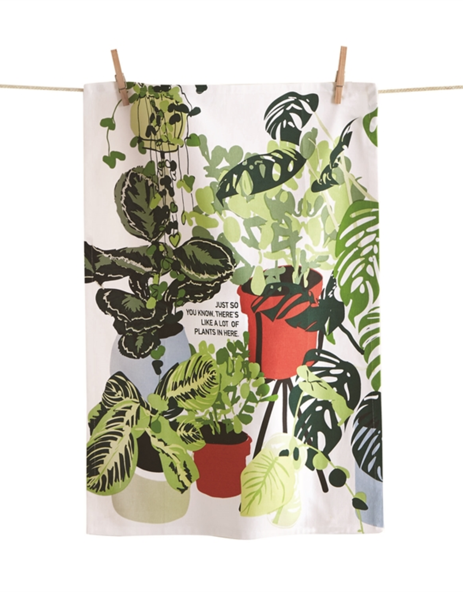 Tag Dishtowel - Lots of Plants in Here