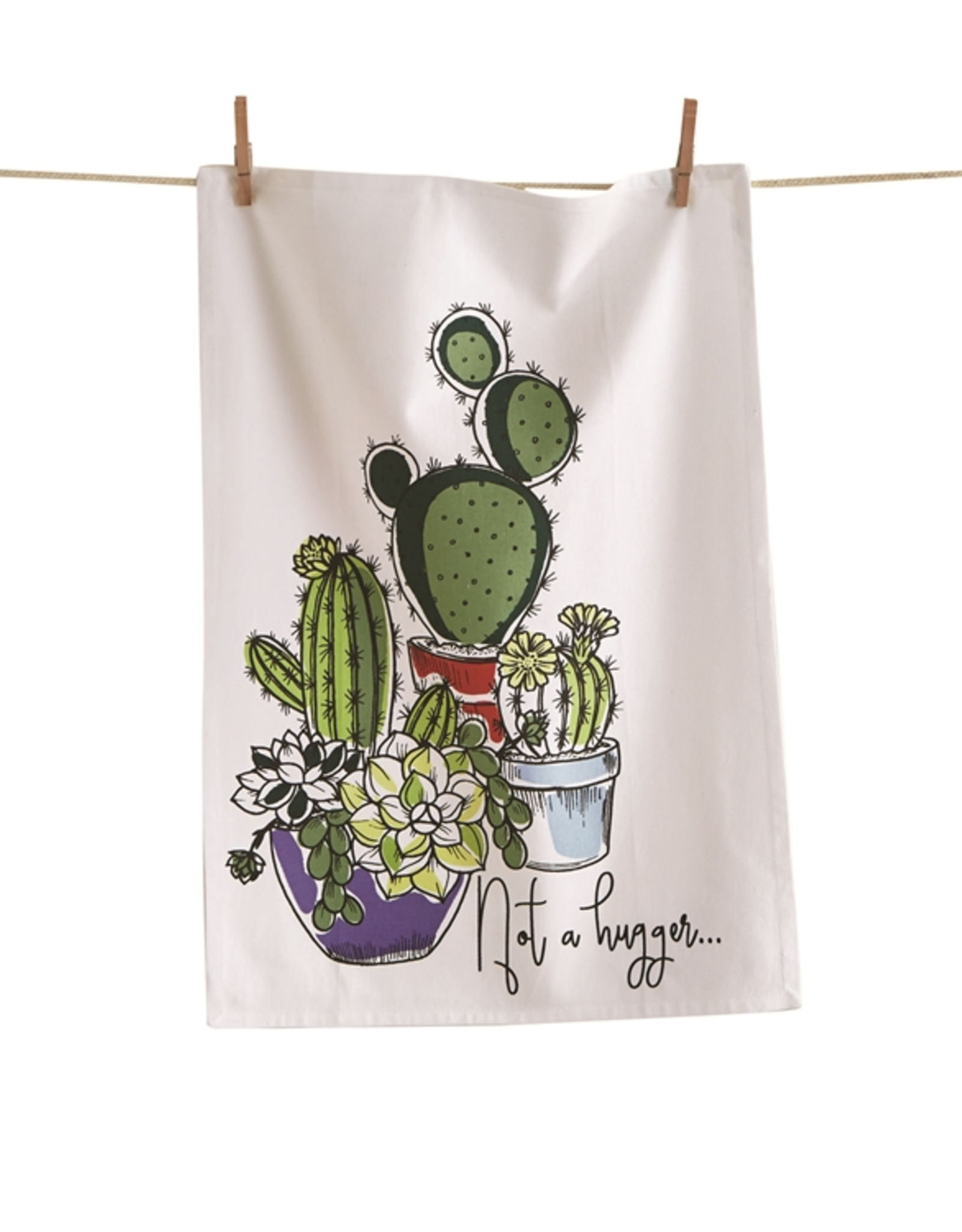 Tag Dishtowel - Not a Hugger