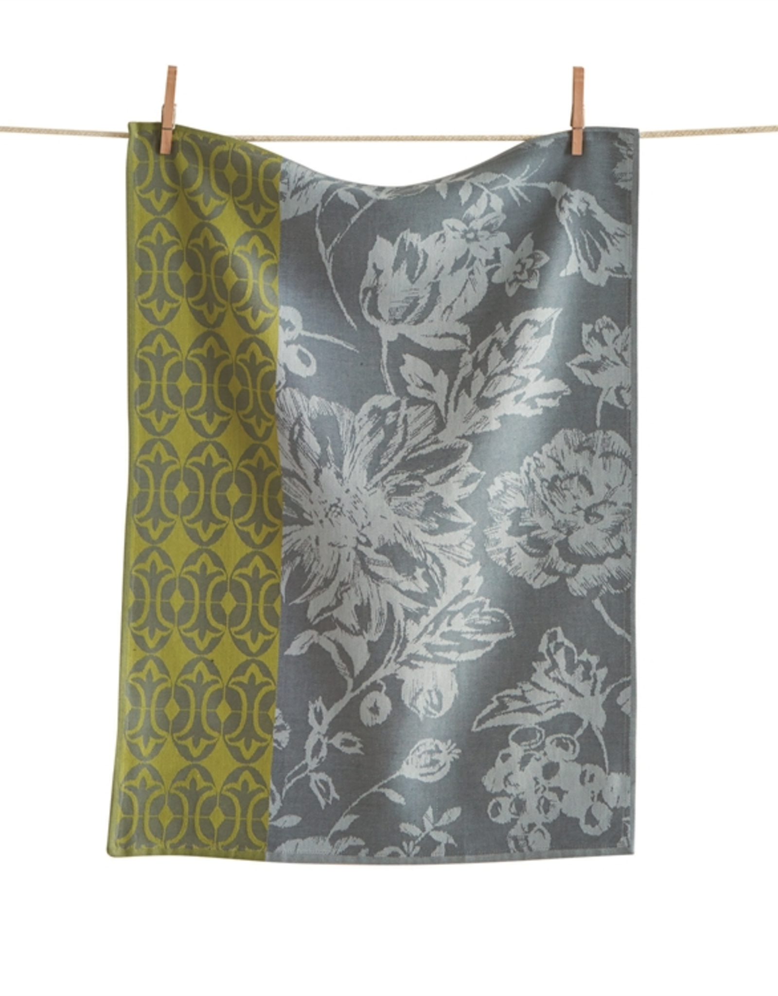 Tag Dishtowel - Greenhouse Floral Jacq