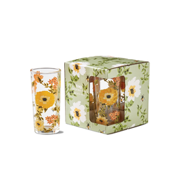 Tag Glass S/4 - Bee Floral