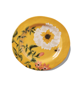 Tag Salad Plate S/4 - Bee Floral
