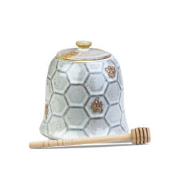 Tag Honey Pot - Antique White Hive
