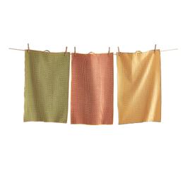 Tag Dishtowel S/3 - Honeycomb Multi