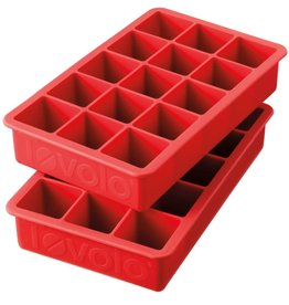 Tovolo Perfect Cube Ice Tray Set 2, Candy Apple Red